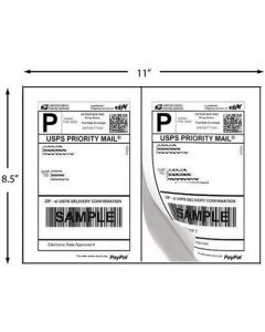 Shipping Labels 2 per page (square edges)