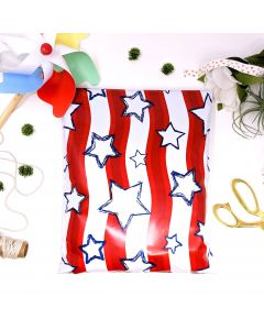 Designer Mailers Stars and Stripes Poly Mailers 10x13