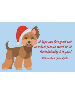 Festive Pups 4x6 Thank You Cards