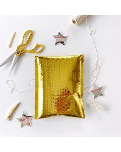 #0 Gold Metallic #SmileMail® Poly Bubble Mailers: 6.5x10