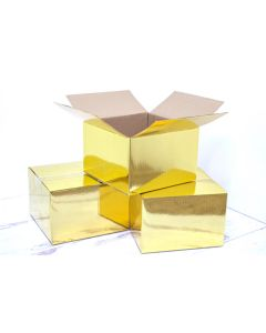 4x4x4 Metallic Gold Designer Boxes