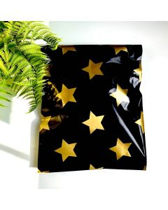Gold Stars Black #SmileMail Poly Mailers 6x9