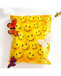 Happy Face #SmileMail Designer Poly Mailers 10x13