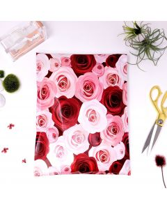 Designer Mailers Roses Poly Mailers 10x13