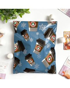 Peppermint Mocha #SmileMail Christmas Poly Mailers 10x13