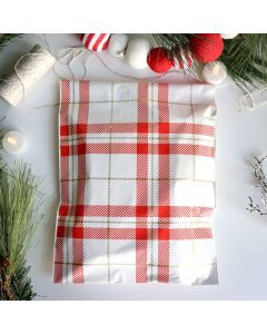 Plaid #SmileMail® Poly Mailers 6x9