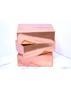 6x6x4 Rose Gold Metallic Designer Boxes