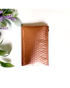 #000 Rose Gold Metallic Bubble Mailers: 4.25x8 Bubble Pak Brand