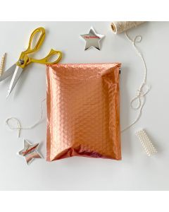 #0 Rose Gold Metallic #SmileMail® Poly Bubble Mailers 6.5x10