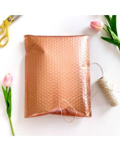 #2 Rose Gold Metallic #SmileMail® Poly Bubble Mailers: 8.5x12