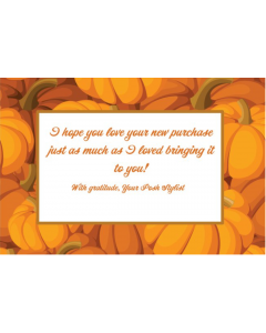 Pumpkins 4x6 Thank You Cards