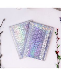 #000 Holographic Poly Bubble Mailers: 4.25x8 Bubble Pak Brand